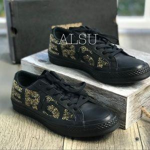 Converse One Star⭐️OX  Black Gold logo W AUTHENTIC